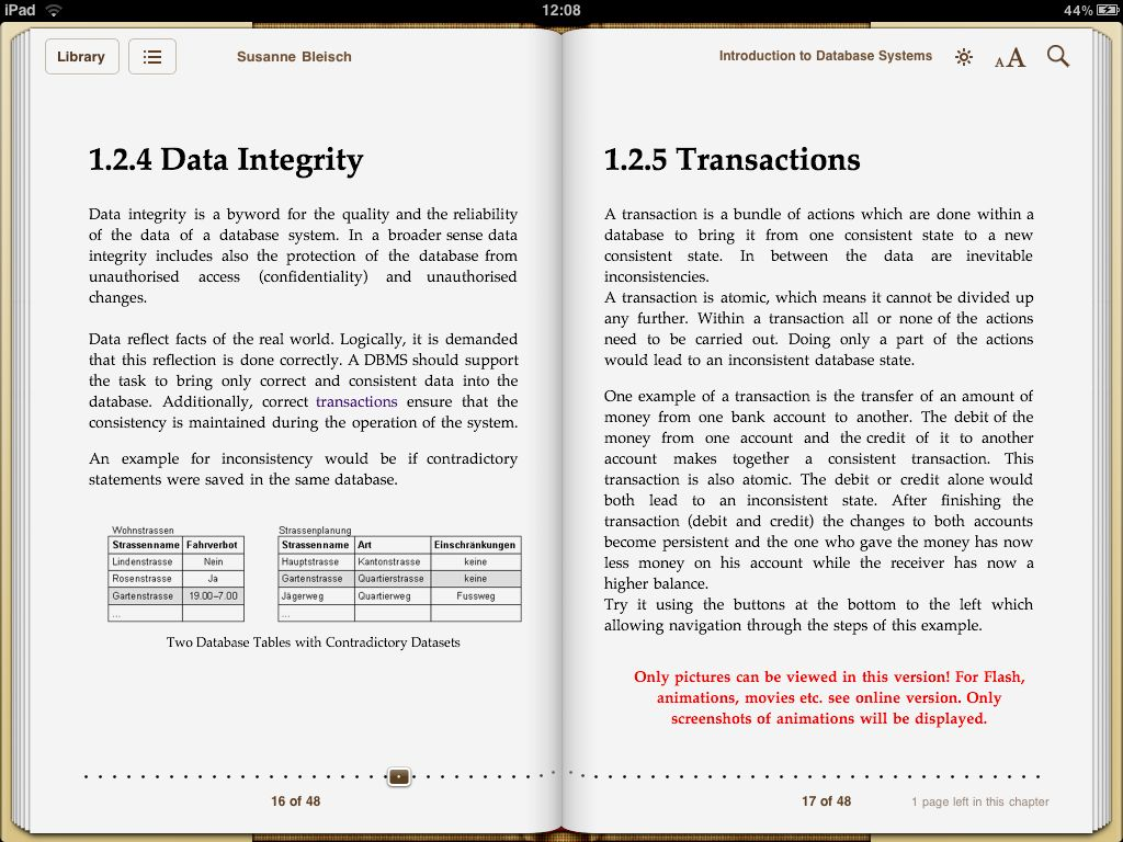 Creating ebooks with elml using epub format the ipad allows also a two page view fandeluxe Ebook collections