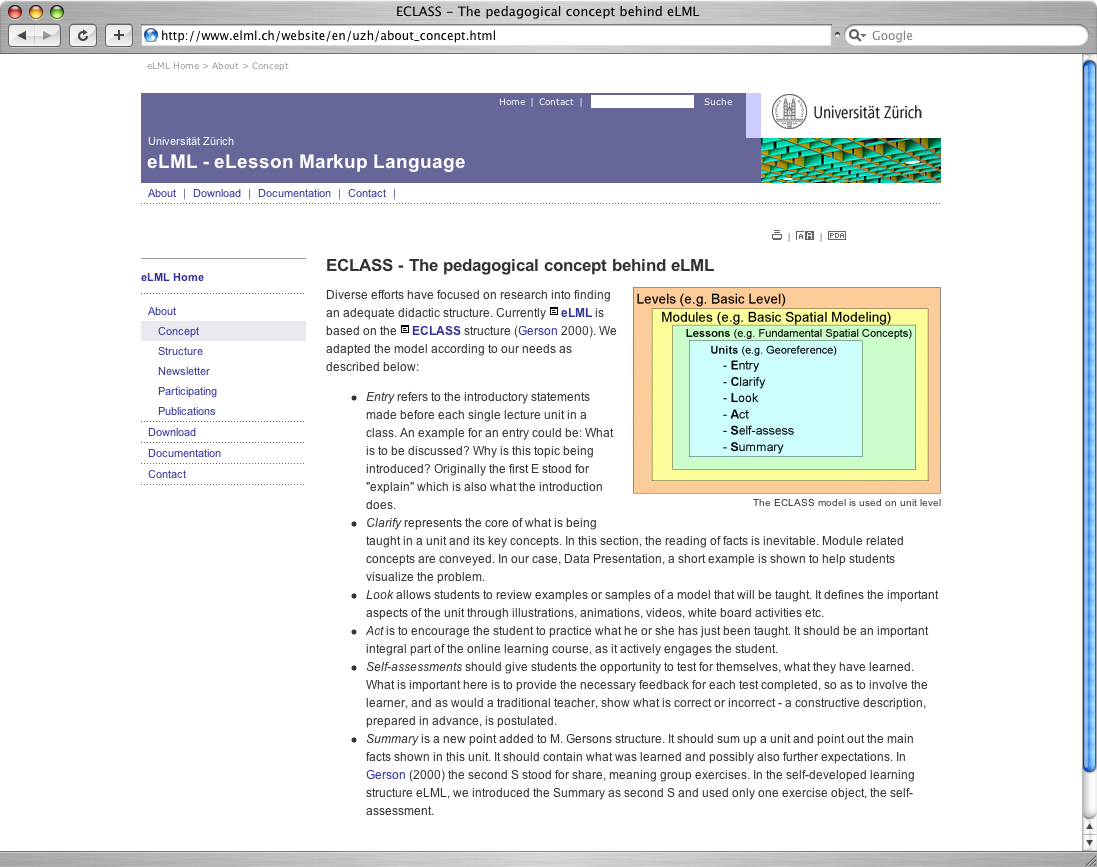 ELML Website In University Of Zurich Layout (click Image)  Manual Format Template